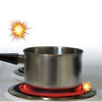 Cooktop creates sparks when turned on