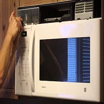 Microwave display not working
